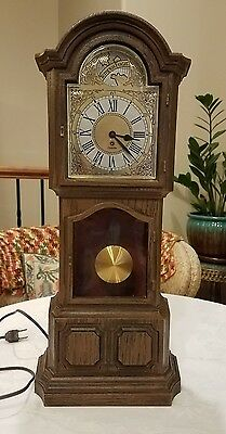 Vintage Miniature Electric Grandfather Clock By Sunbeam