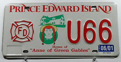 "Canada Nummernschild aus PRINCE EDWARD ISLAND ""Anne of Green Gables"".""FD"".10717."