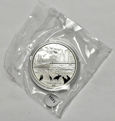 2013 1oz Silver Chinese Shanghai Memory Jewish Ghetto Panda Metal Double Sealed