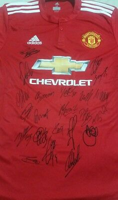 Manchester United F.c. Personally Hand Signed New Season Jersey 2017/2018