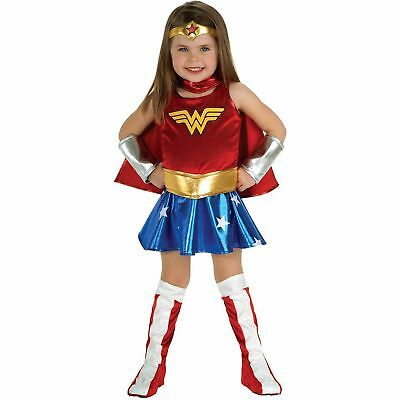 Wonder Woman Halloween Costume Toddler Child Girl Kids Superhero Size 3T-4T