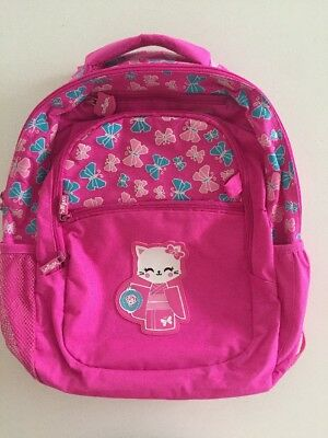 Smiggle Girls Backpack - Pink Cats - Kinder/school Bag