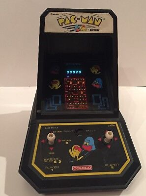 Vintage Coleco Midway Pac-Man Tabletop Mini Arcade Game Tested/Works