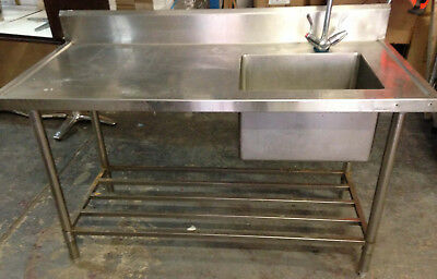 Commercial Sink - 1500mm sgl bowl with bench