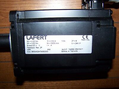 LAFERT Brushless Servo Motor B6304Q3H7A050000 Nn=3000/min M0 = 4.00Nm New Stock