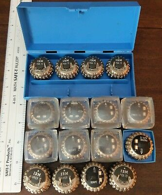 Lot of 16  IBM SELECTRIC Typewriter Element Heads / Font Balls