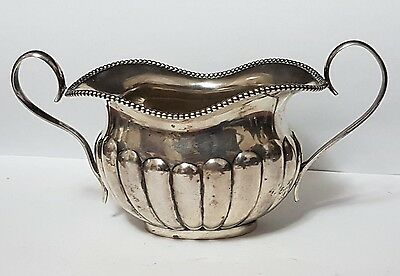 Antique Sterling Silver Sugar Bowl - Stamped 925-  Solid Silver