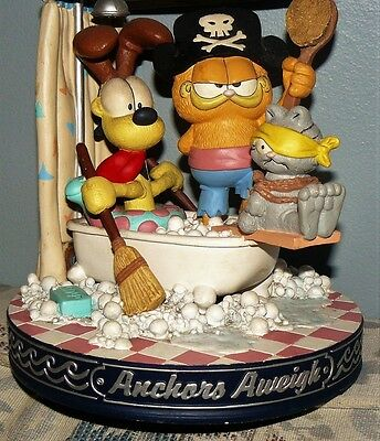 "1994 Danbury Mint Garfield ""Anchors Away"" MUSIC BOX"