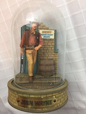 TFM Franklin Mint John Wayne Limited Edition Hand Painted Dome Sculptures