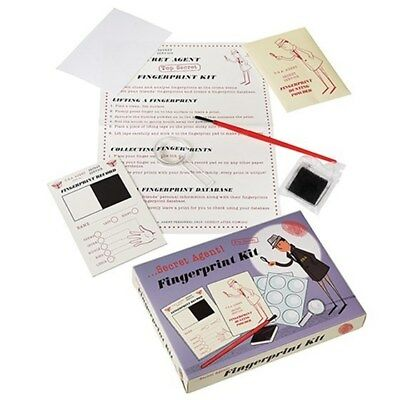 NEW Secret Agent Fingerprint Kit | Kids Retro Spy Mission Detective | ihartTOYS