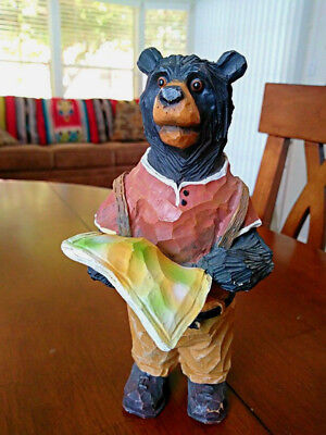 Lost Hiking Bear Animation Figure Display Figurine Sculpture Lodge Cabin Decor