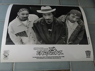 Press Photo Snoop Dogg Goldie Loc and Tray Dee of Tha Eastsidaz -