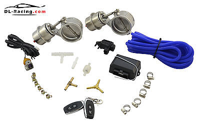 2.01in Dual Vacuum Exhaust HATCH FLAP CONTROL Exhaust Flaps Remote Control