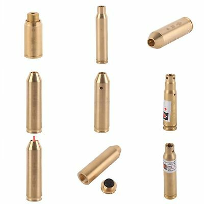 Red Dot Laser Brass Cartridge Bore Sighter Boresight For Scope CAL Hunting