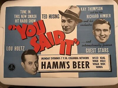 "Vintage Hamms Beer Advertising ""you Said It"" Radio Show 20""X13"""