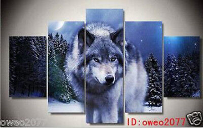 Home Decor HD Print art painting on canvas The king of the Wolf 5P NO Frame