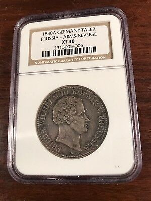 1830-A Germany Prussia Taler Thaler - NGC Graded XF-40