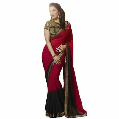 Indian Ethnic Women Wedding Designer Sari Traditional Party Wear Bollywood Saree