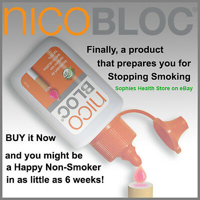 Quit Smoking Gradually with a drop of  NicoBloc Fluid on the filter