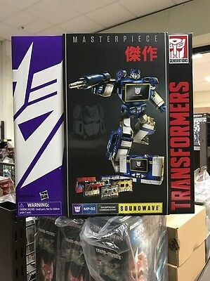 ! AU HASBRO Transformers Masterpiece MP-02 GENERATIONS SOUNDWAVE W/ 5X CASSETTES