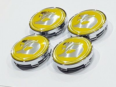 HSV Wheel centre caps 60mm yellow  For Holden HSV aftermarket Wheels,