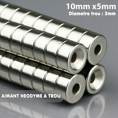 Lot Magnet Neodymium Neodium Round Fortified Powerful 10mm x 5mm (WITH HOLE 3mm)