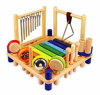 I'm Toy Melody Mix, Children's Wooden Musical Toy, 10 Instruments in One