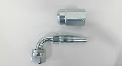 """HYDRAULIC HOSE FIELD FIT REUSABLE 3/4"""" HoseTail x 1-1/16 (-17)"""" 90° JIC ELBOW"""
