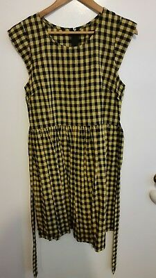 Chequered yellow and black size 14 dress Dangerfield brand