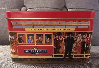 Ghirardelli Chocolate Powell and Hyde San Francisco Cable Car Tin Box