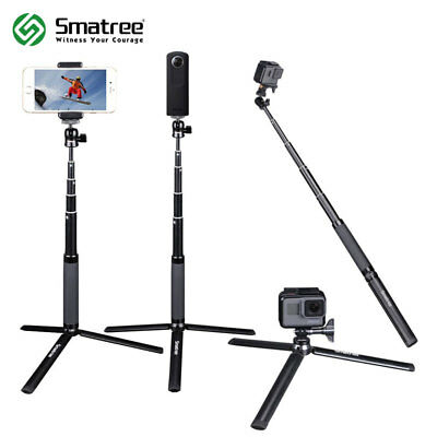 Smatree Selfie Stick with Tripod Stand for Gopro Hero 6/5/4/3+ for Ricoh Theta S