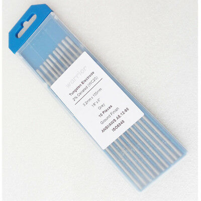 "10pcs WC20 Ceriated TIG Welding Tungsten Electrodes 3.2*150mm 1/8""/6"""