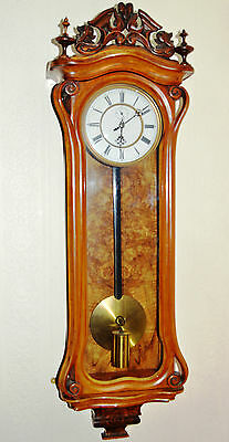 C19th VIENNA REGULATOR WALL CLOCK ANTIQUE WALNUT 115 CM