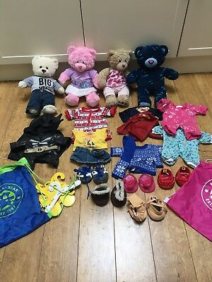Build A Bear Bundle - Includes Bears & Lots Of Clothing