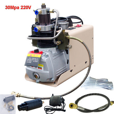 30Mpa-3 High Pressure Electric Compressor Air Pump Booster 220V 300bar 60HZ 75DB