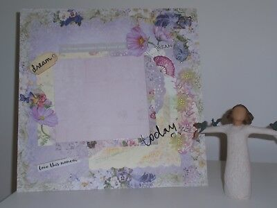 Handmade Scrapbook page - In these moments time stood still