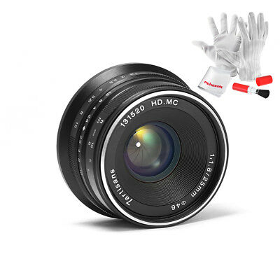 7artisans 25mm F1.8 Manual Focus Prime Fixed Lens for Panasonic/Olympus M4/3