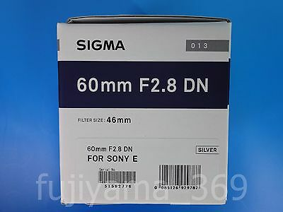 NEW SIGMA 60mm F2.8 DN Art Lens Silver for Sony E-mount Free shipping from Japan