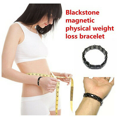 Weight Loss Round Black Stone Bracelet Health Care Magnetic Therapy Bracelet XU
