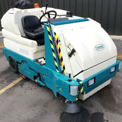 Tennant 8300 Battery Powered Ride On Sweeper Scrubber - Needs Batteries