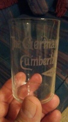 Antique Pre Pro The German Brewing Co Cumberland Maryland ETCHED Beer glass