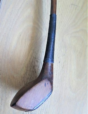 ANTIQUE WOOD c1890 -THE THISTLE SPLICE NECK / SCARED NECK GOLF CLUB - WOOD SHAFT