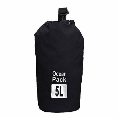 5L Waterproof Outdoor Travel Black Shoulder Dry Bag For Camping Climbing Cycling