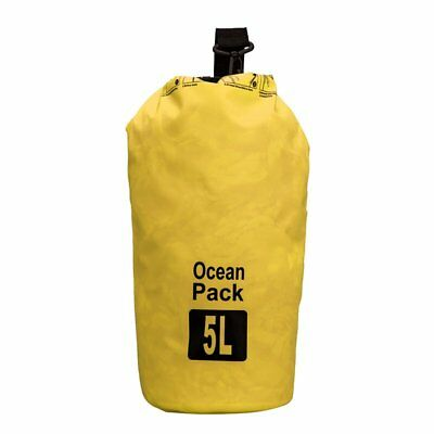 5L Waterproof Outdoor Travel Yellow Shoulder Dry Bag For Camping Hiking Cycling