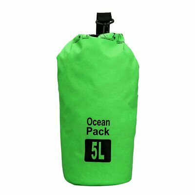 5L Waterproof Outdoor Travel Green Shoulder Dry Bag For Camping Climbing Cycling