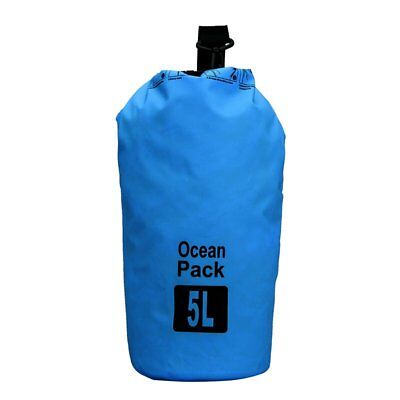 5L Waterproof Outdoor Travel Blue Shoulder Dry Bag For Camping Climbing Cycling