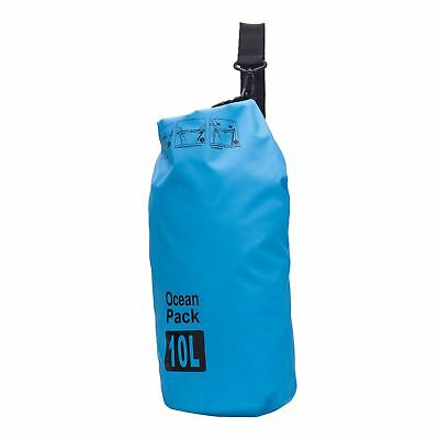 Outdoor Travel 10L Blue Shoulder Strap Waterproof Dry Bag For Swimming Drifting