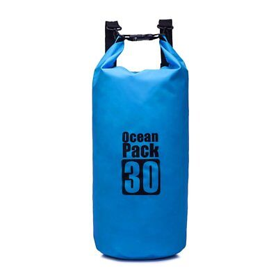 PVC Dampproof 30L Outdoor Travel Blue Dry Bag Sack For Camping Climbing Cycling
