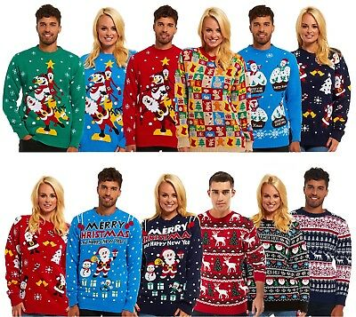 Christmas Xmas Jumper Sweater New Mens Womens Ladies Unisex Novelty Jumpers
