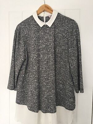 Dorothy Perkins Maternity 2-in-1 Jumper And Blouse Size 18